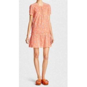 Coach Embroidered Floral Dress in Peach Size 4